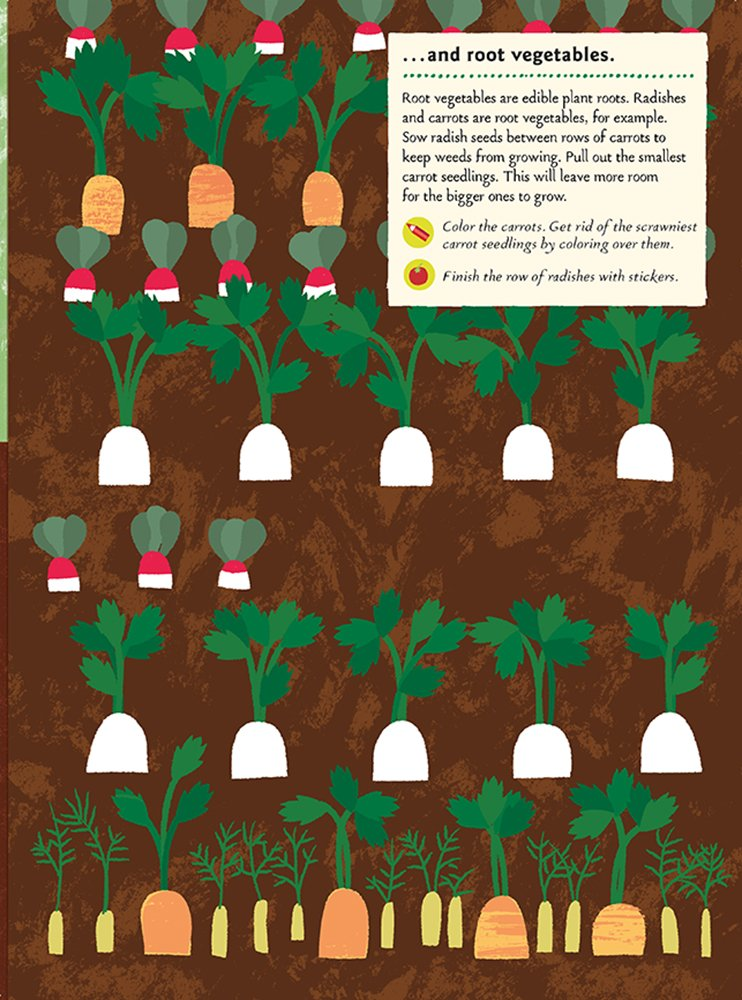 In the Vegetable Garden - My Nature Sticker Activity Book