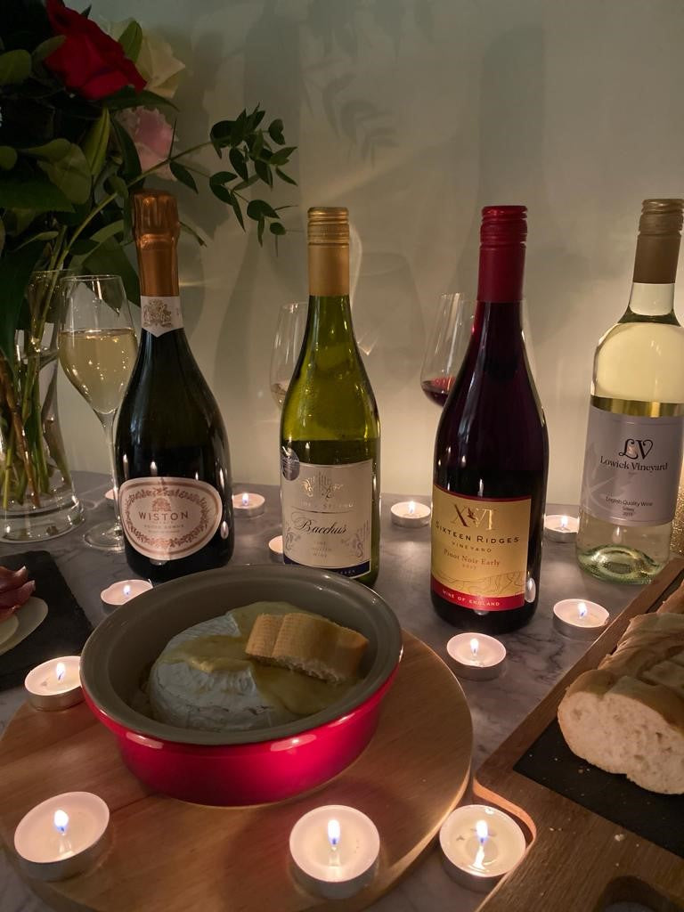 English Wine and Baked Camembert