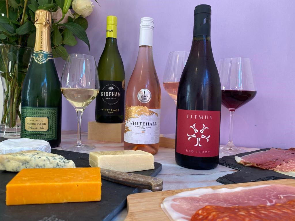 English Wine and Cheese from The British Wine Cellar