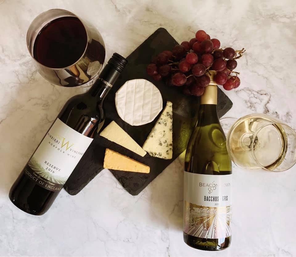 English Wine and English Cheeses from The British Wine Cellar