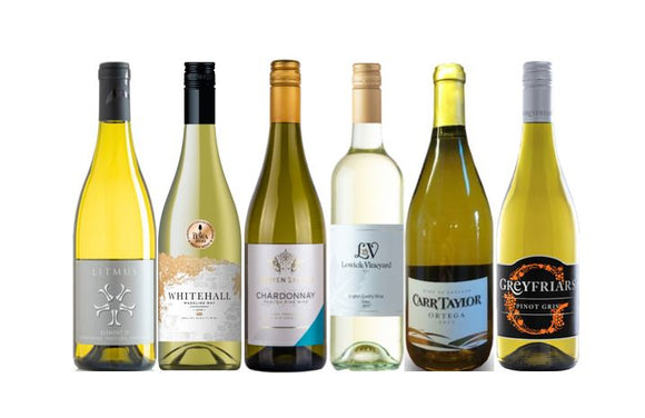 Case of English White Wines for Chardonnay and Pinot Grigio Lovers from The British Wine Cellar