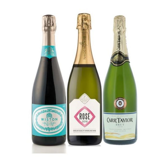 English Sparkling Wines trio from The British Wine Cellar