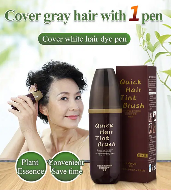 Covering White Hair Quick Hair Tint Brush