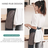 Tie-free automatic apron deep nano waterproof and oil proof