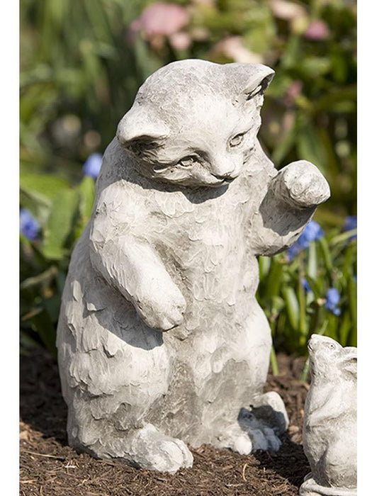 Playful Kitten Garden Statue