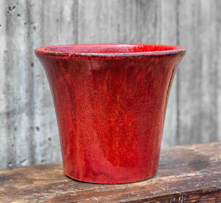 Delphine Planter - Set of 4 in Macintosh Red