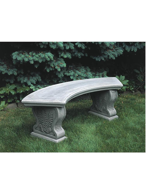 Curved Woodland Ferns Garden Bench