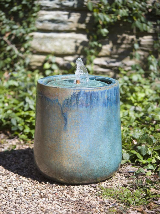 Daralis Glazed Fountain in Weathered Copper