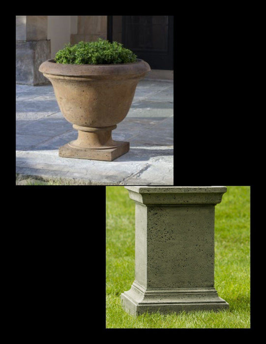 Rustic Greenwich Urn with Pedestal