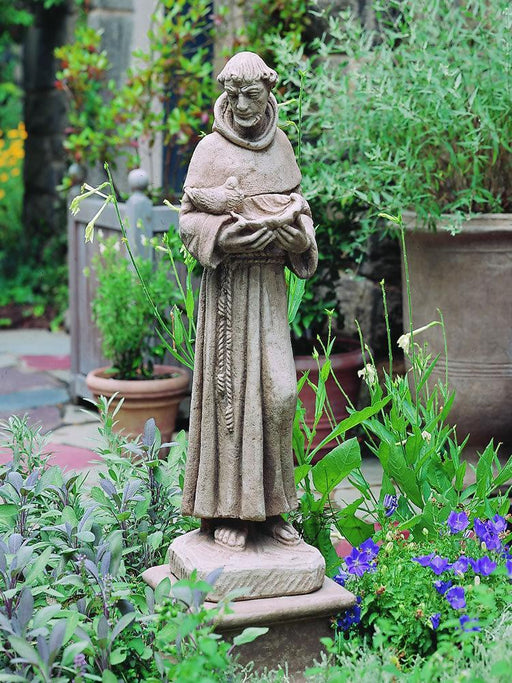 Saint Francis with Shell Garden Statue