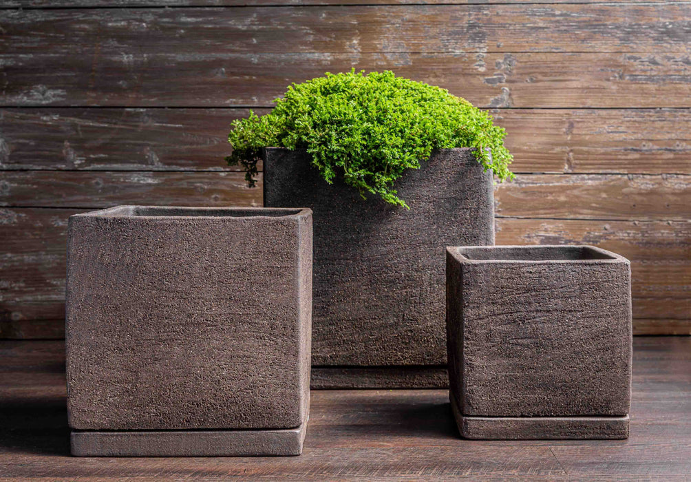 I/O Cube Planter - Set of 3 in Peat