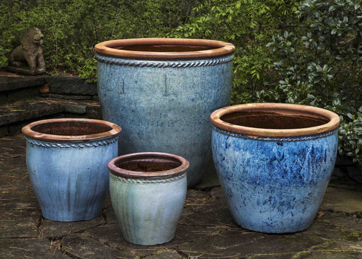 Chandor Planter - Set of 4 in Rustic Blue