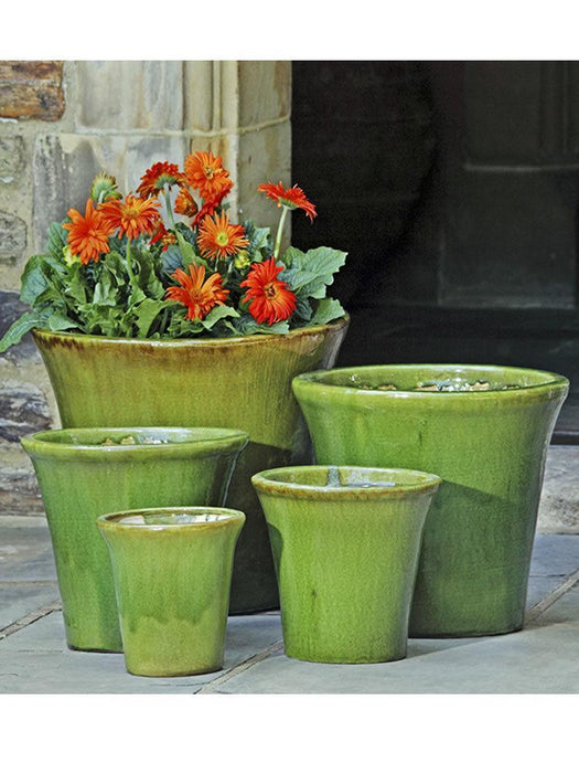 Delphine Planter Set of 5 in Highland Moss