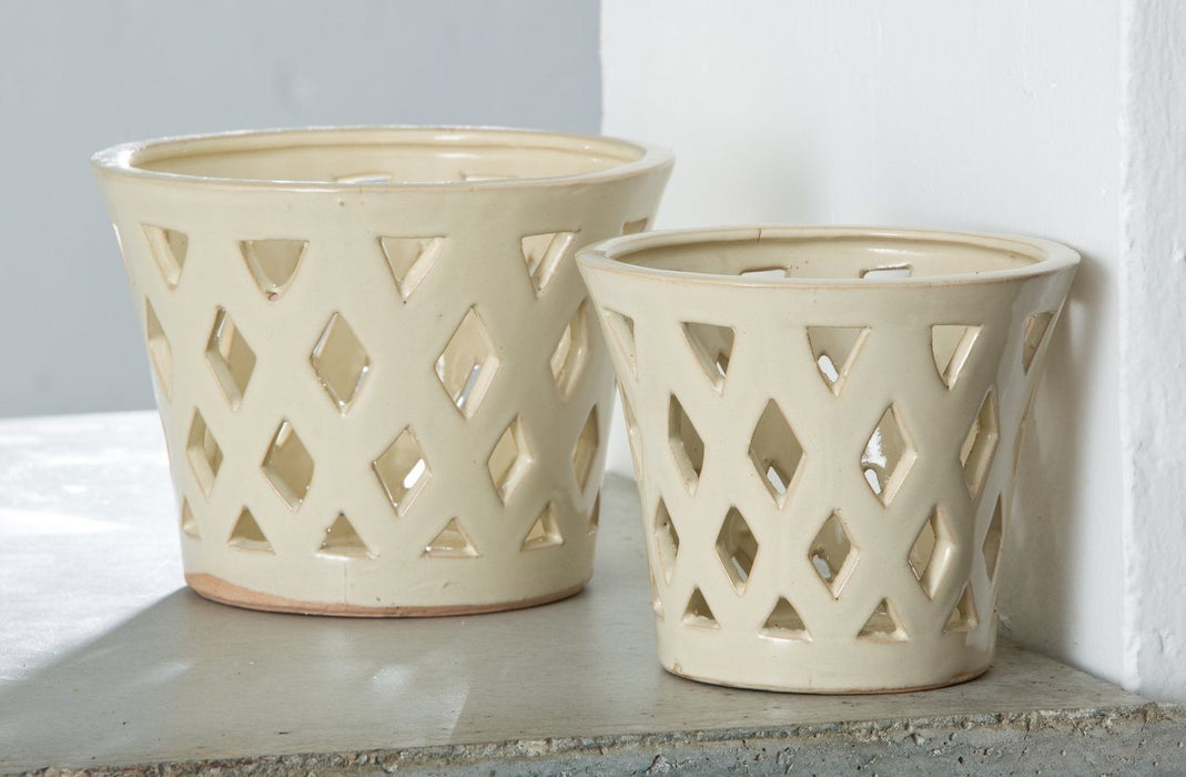 Gwyneth Small Planter  - Linen Cream