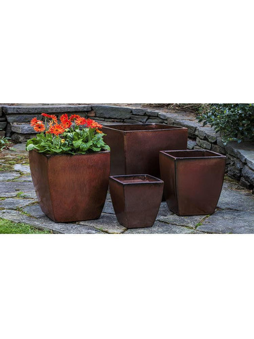 Blake Planter Set of Four in Maple Red