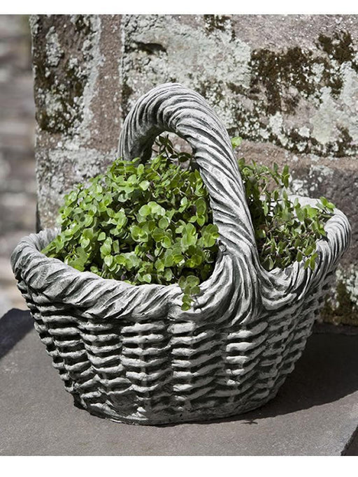 Basket Garden Planter with Handle, Small