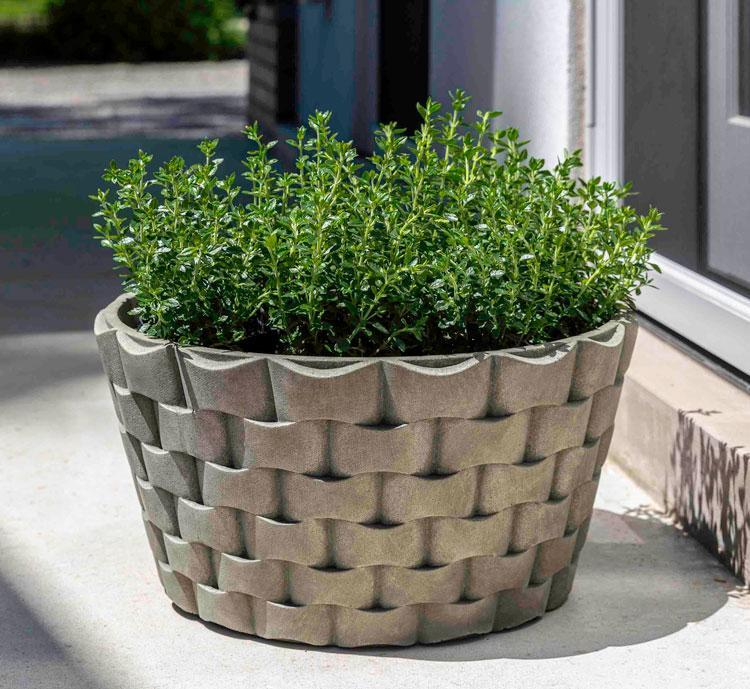 M Weave Low Round Planter