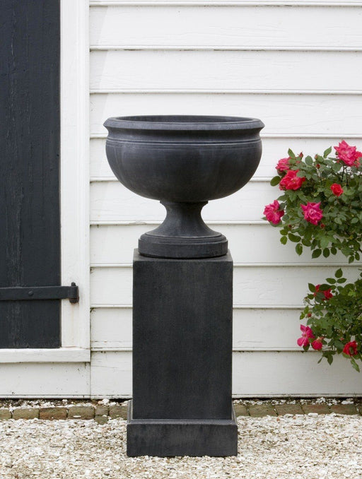 Williamsburg Plantation Urn Garden Planter with Tall Classic Pedestal