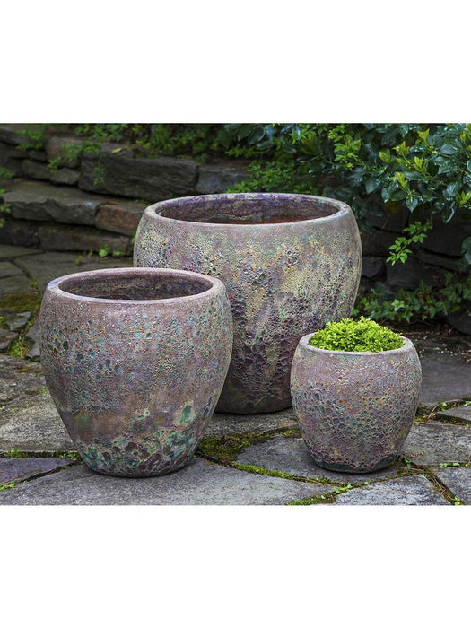 Symi Planter - Set of 3 in Angkor Green Mist