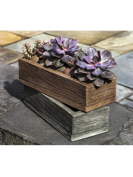 Barn Board Planter 14 Inches