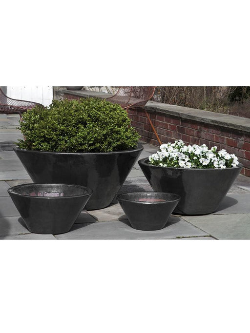 Brasilia Planter Set of Four in Ice Black