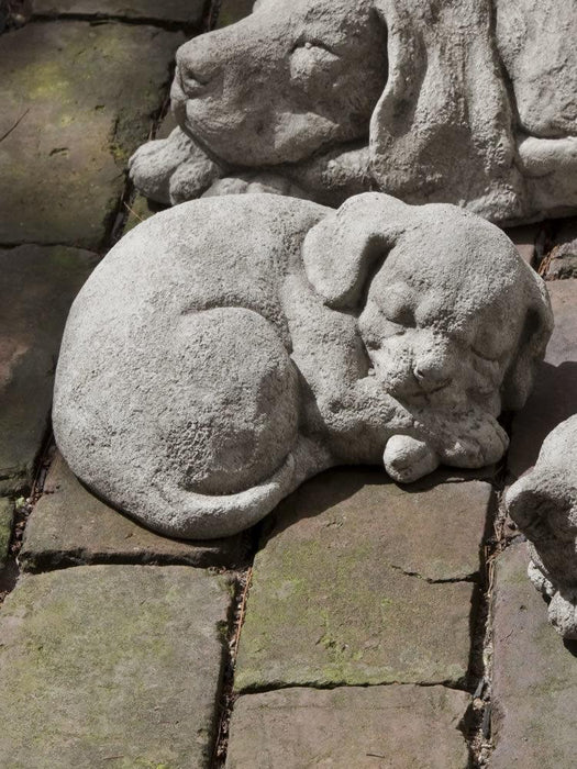 Small Curled Dog Garden Statue