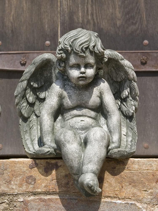 Seated Cherub Statue, Medium