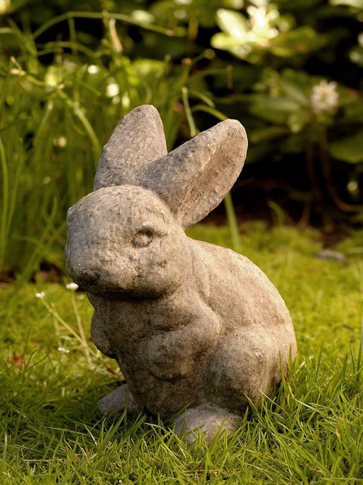 Rabbit with Both Ears Up Garden Statue