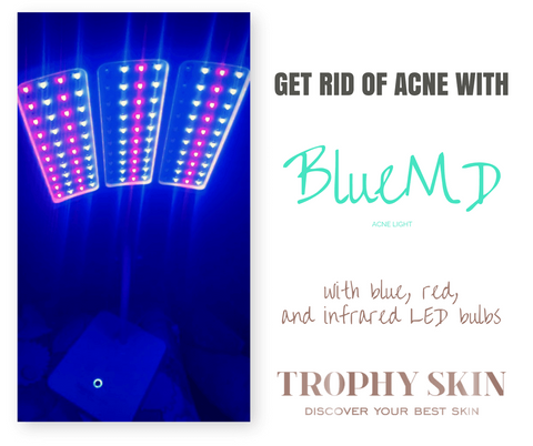 BlueMD Acne Light with red LED bulbs