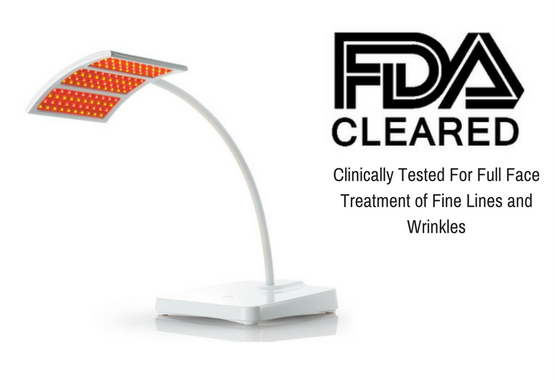 It is an FDA-cleared red light therapy device for the treatment of full facial wrinkles.