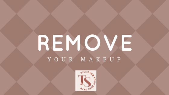 remove makeup before sleeping