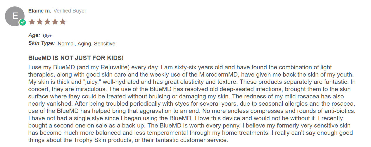 bluemd review by customer