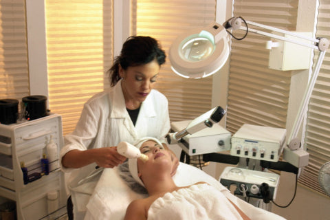 In-office microdermabrasion treatment