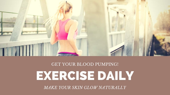 Exercise makes your skin glow naturally