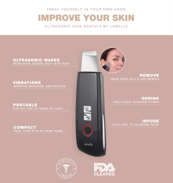 labelle ultrasonic skin spatula infographic