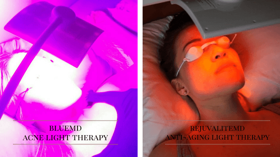 light therapy for acne and aging skin