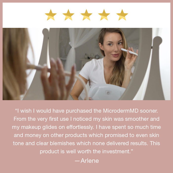 Arlene is satisfied with using MicrodermMD from Trophy Skin