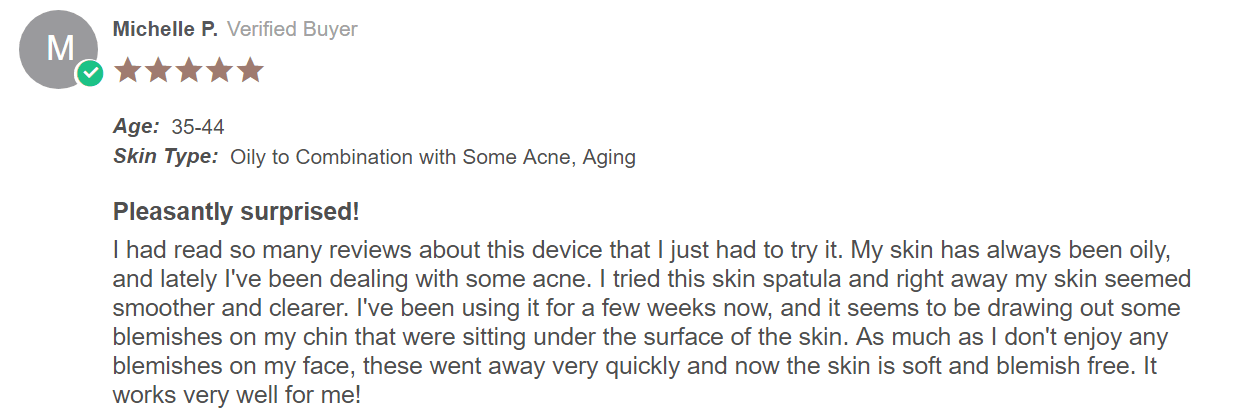 review for ultrasonic skin spatula