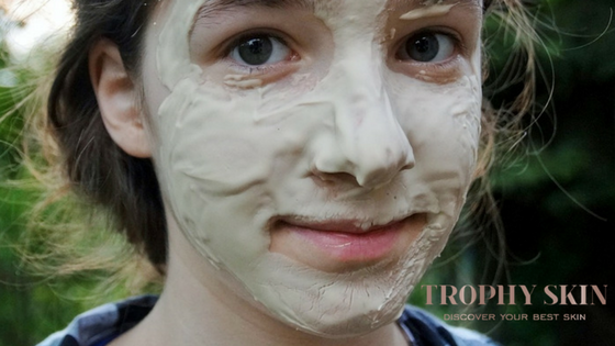 clay mask helps get rid of excess oil and sebum