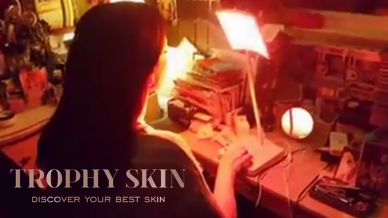 Red Light Therapy helps deal with aging skin problems like fine lines and sun damage