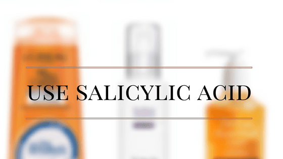 use salicylic acid to treat acne