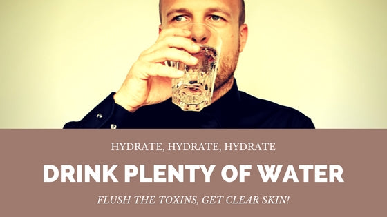 drink water to flush out toxins