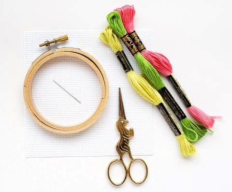 Basic Materials For Cross-Stitch