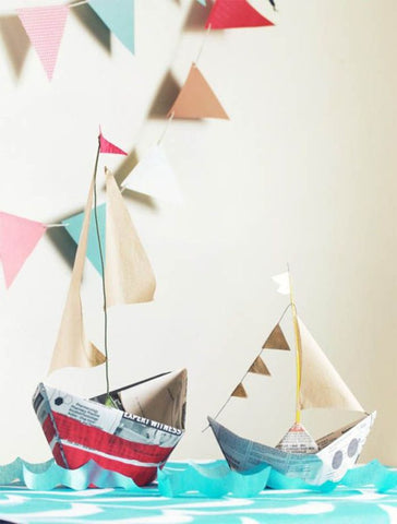 Decorating Craft Paper Boats