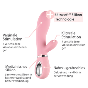 Rabbit Vibrator mit separaten Vibrationen