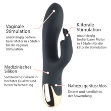 Lade das Bild in den Galerie-Viewer, Rabbit Vibrator mit Vibrations-Öhrchen