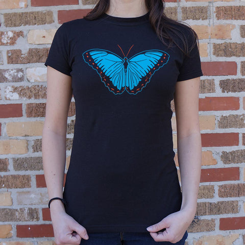 Blue Morpho Butterfly T-Shirt (Ladies)