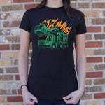 Dumpster Truck Fire 2017 T-Shirt (Ladies)