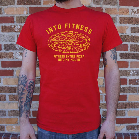 Into Fitness, Fitness Entire Pizza Into My Mouth T-Shirt (Mens)