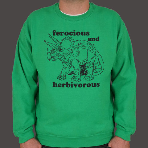 Ferocious And Herbivorous Sweater (Mens)